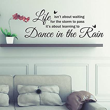 Amazoncom Dance in the Rain Removable Wall Vinyl Stickers Wall