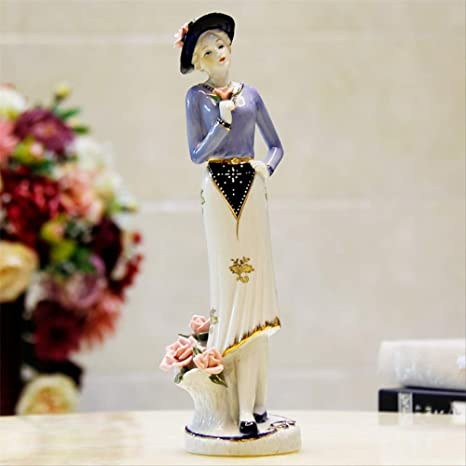 Amazon.com: ZGPTX - Figuras decorativas pintadas a mano para ...