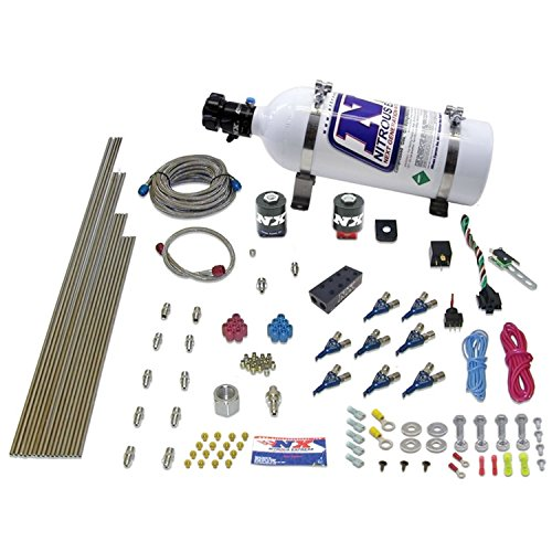 Nitrous Express 80000EFI-05 150-300 HP 8-Cylinder Gasoline EFI Piranha Nozzle System with 5 lbs. Bottle
