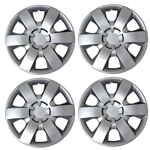 - Tuningpros WC3-14-226-S - Pack of 4 Hubcaps - 14-Inches Style 226 Snap-On (Pop-On) Type Metallic Silver Wheel Covers Hub-caps