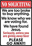 River's Edge Products No Soliciting Tin Sign