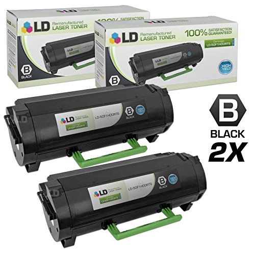 LD Compatible Toner Cartridge Replacement for Lexmark 501H 50F1H00 High Yield (Black, 2-Pack)