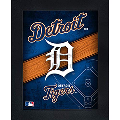 Detroit Tigers 3D Poster Wall Art Decor Framed Print | 14.5x18.5 | Lenticular Posters & Pictures | Memorabilia Gifts for Guys & Girls Bedroom | MLB Baseball Sports Team Fan Poster for Man Cave