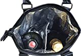 Vina Deluxe 2 Bottle Wine Purse Tote Bag Black Checkers - Thermal Insulated Wine/Champagne Travel Carrier Cooler Bag Stylish Great for Taking Wine to Restaurants, Picnics, the Beach or any Occasion
