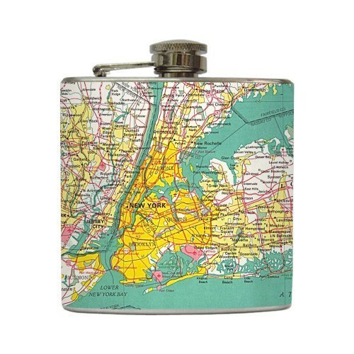 I Heart NY - Liquid Courage Flasks - 6 oz. Stainless Steel Flask
