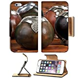 Luxlady Premium Apple iPhone 6 Plus iPhone 6S Plus Flip Pu Leather Wallet Case iPhone6 Plus Close up of calabash cups for mate Mate is a traditional drink very similar to tea in Argentina Uruguay Para
