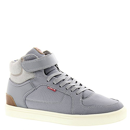 Levis Mens Chandler Canvas Pu Fashion Sneaker Grigio / Marrone