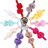 Hosaire 10 Pcs Candy Color Chiffon Bow-knot Ears Baby Girls Headband Hair Dress Up Accessories(Random Color)