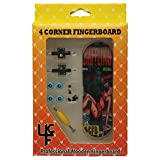 """4CFB Complete Wooden Fingerboard with Real Wear """"Baffling"""" Golden Age Comic Book Graphic"""