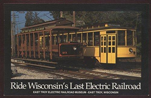 (Wisconsin East Troy Electric Trolley Train Streetcar Duluth Railroad Postcard)