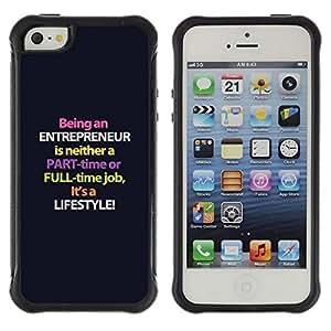 Fuerte Suave TPU GEL Caso Carcasa de Protección Funda para Apple Iphone 5 / 5S / Business Style entrepreneur purple lifestyle business