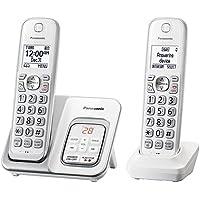 Telephones Cordless, White Panasonic Expandable Cordless Home Landline Telephone