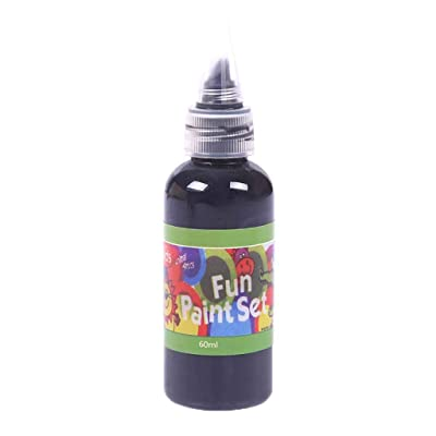 Fullfun Washable Children's Paint Acrylic Paint Hose DIY Wall Painting Washable Finger Art Paint (Black): Electronics