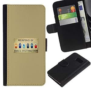 // PHONE CASE GIFT // Moda Estuche Funda de Cuero Billetera Tarjeta de crédito dinero bolsa Cubierta de proteccion Caso Sony Xperia Z3 Compact / Weapons Of Mass Distraction - Funny /