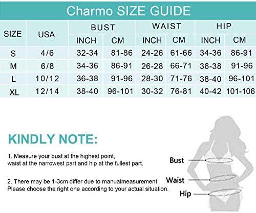Charmo Women 2 Piece Bikini Sets Tie Dye Bathing Suits Bandeau Swimsuits for Women