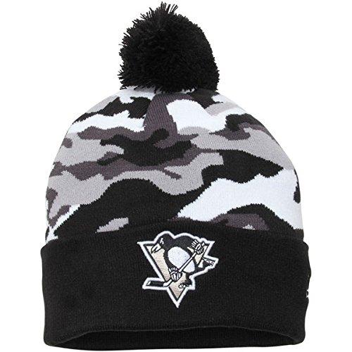 Pittsburgh Penguins New Era Camo Top 2 Team Knit Beanie - Black/Camo