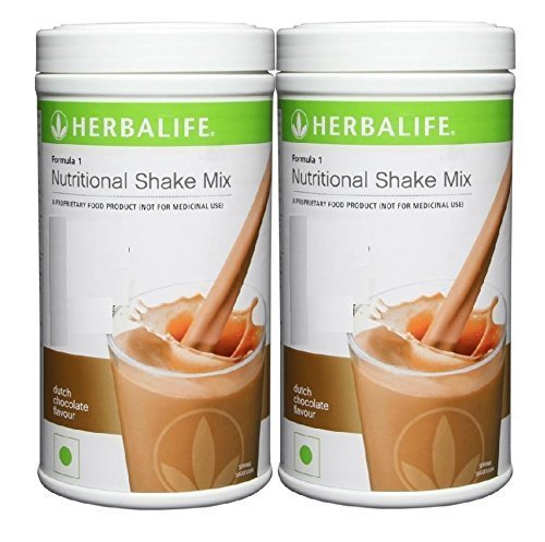 Herbalife Formula 1 Nutritional Shake Mix, 500g Dutch Chocolate, Pack of 2 (DHL -