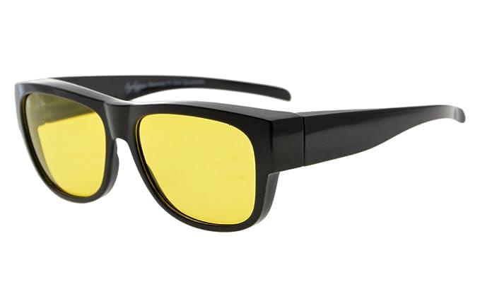 Eyekepper Gafas de sol polarizadas anti azul fitover lentes fotosensibles (Negro/Amarillo Lentes)