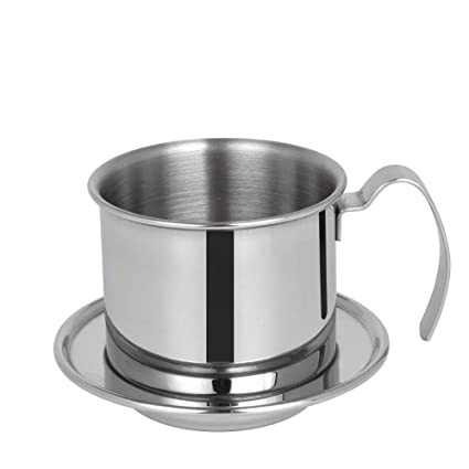 Cafetera vietnamita de acero inoxidable con filtro de café en ...