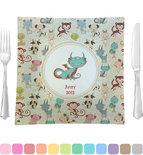 Chinese Zodiac Square Dinner Plate (Personalized)
