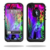 Mightyskins Protective Vinyl Skin Decal Cover for LifeProof iPhone 5 Case 1301 fre wrap sticker skins Neon Splatter