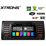 XTRONS HDMI Android 7.1 Quad Core 7 Inch HD Digital Touch Screen Car Stereo Radio DVD Player GPS for BMW X5 E53 1999-2006