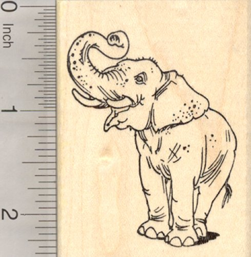 Asian Elephant Rubber Stamp, Standing, Endangered Wildlife, India, Sumatra, Asia
