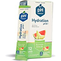 Phenoh Hydration Nutrient Infused Alkaline Water Enhancer   Performance and Recovery   Plant Based   Electrolytes High Potassium   pH8+   0 Sugar, GMO Free   Keto Paleo Friendly   Cucumber Melon 12 Pk