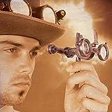 Steampunk Folding Binoculars w/Compass - Brass Opera Glasses
