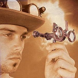 Steampunk Folding Binoculars w/Compass – Brass Opera Glasses