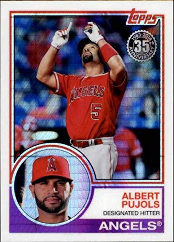 (2018 Topps Update 1983 Chrome Silver Wrapper #143 Albert Pujols Los Angeles Angels MLB Baseball Trading Card)