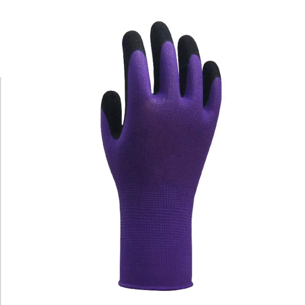 LZRZBH Work Gloves Gardening,Nylon Knit Industrial Gloves with,for Men and Women Gardening, Breathable,Knit Wrist Cuff (Color : D)
