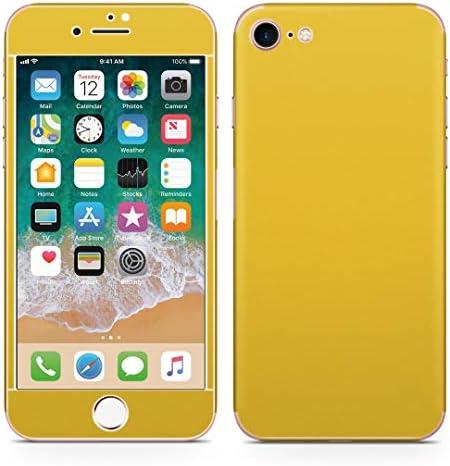 igsticker iPhone SE 2020 iPhone8 iPhone7 専用 スキンシール 全面スキンシール フル 背面 側面 正面 液晶 ステッカー 保護シール 008994 その他 シンプル 無地 黄色