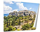 Ashley Giclee Beautiful View Of Ancient Acropolis Athens Greece wall art poster print for bedroom, ready to frame, 16x20 Print