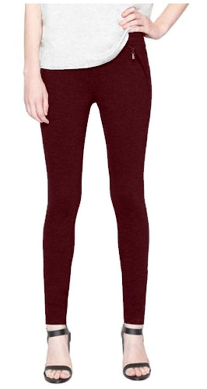 Matty M Ladies' Ponte Pant with Faux Zipper Pockets
