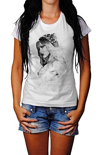 Suki Waterhouse III T-Shirt Mädchen Frauen, weiß mit Aufdruck