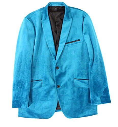 Alfani Velvet Two-Button Blazer, True Teal, L (Coat Alfani)