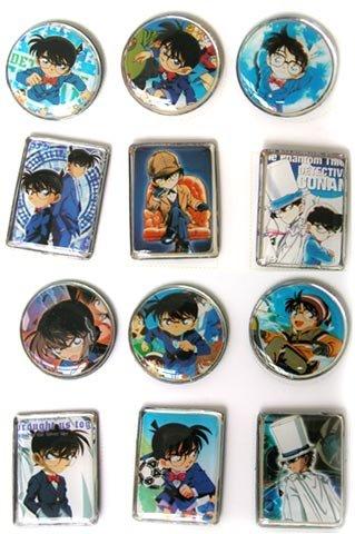 3 Piece Case Closed Anime Pins - Detective Conan Buttons