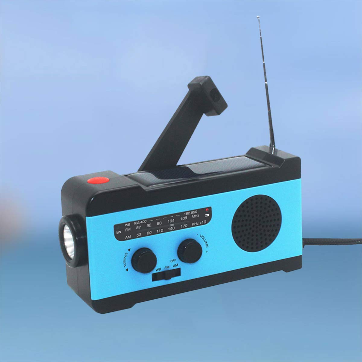 VOSAREA Portable Radio FM Receiver Emergency Radio with Alarm Clock FM Radio FM Receiver by VOSAREA (Image #5)