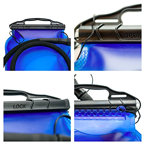 LIQUIDPACKPRO Hydration Bladder Water Reservoir Bag 3 Liter 100 oz Military Running Cycling Hiking Camping Backpack. Water Bladder Easy To Clean Dry 2 X Bite Valve Large Opening Slider, Insulated Tube