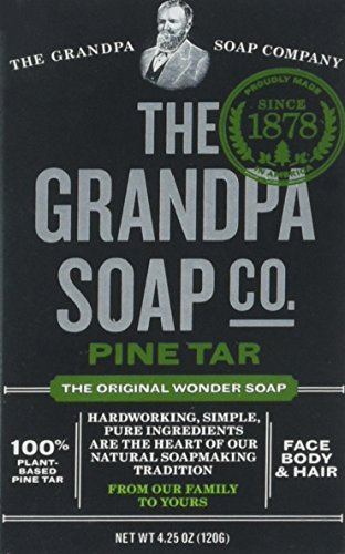 Grandpa's Soap Pine Tar 4.25 oz (8-Pack) (Best Pine Tar Soap)