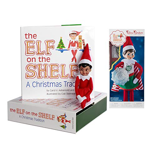 The Elf on the Shelf: A Christmas Tradition Girl Scout Elf (Brown Eyed) with Claus Couture Collection Superhero Girl Outfit]()