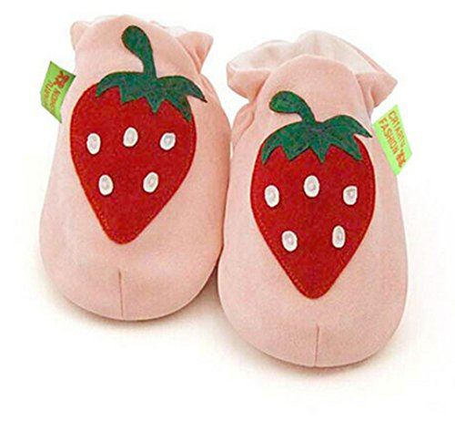 Junsi Baby Infant Kids Sole Crib Strawberry Toddler Chaussures 6-24 months Anti-slip