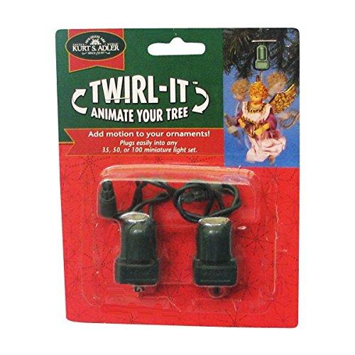 Kurt Adler Twirl-It Motor Pigtails, Set of 2