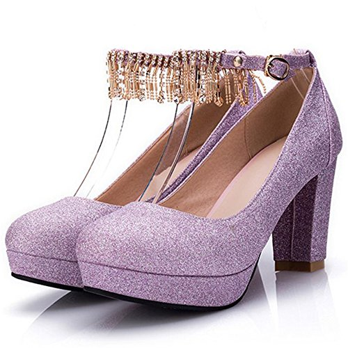 Tacon Corte Femme Cularacci Violet Mode Ancho Chaussures IqF8wxE0w