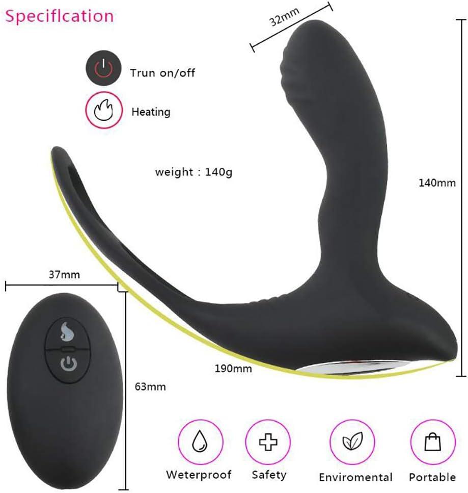 Masajeador de próstata, USB recargable anal vibrador con anillo de ...