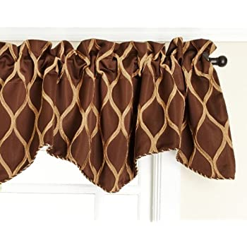 Amazon Com Stylemaster Tyler Lined Scalloped Valance With Cording