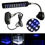 Mingdak Clip on LED Aquarium Light Kit for Fish Tank,48 Leds Light,white and Blue Color Lighting