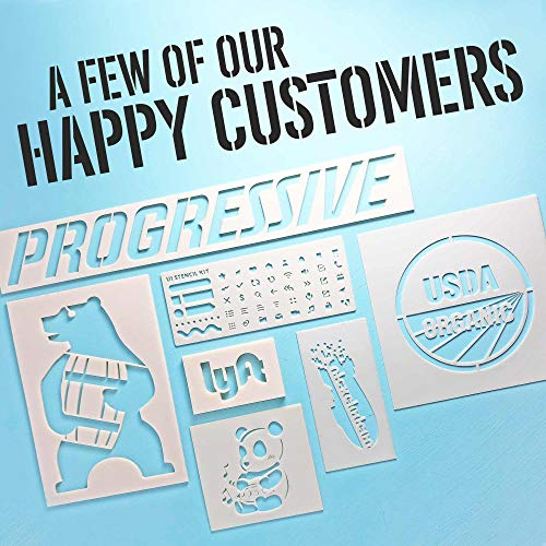 Custom Stencils – Plastic, Personalized, Perfect for Artwork and Logos,  Durable, Airbrush, Spray Paint, Flexible, Large, Washable, Reusable, 14 Mil
