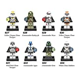 Star Wars Utapau Clone Trooper Minifigure 8 Set Action Figures Collectables (8 Pieces) Series Building Blocks with Lego